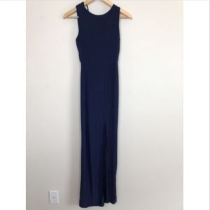 [MISSGUIDED] Navy Slinky Cowl Back Maxi Dress